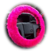 Fabulous Barbie Pink faux fur fuzzy steering wheel cover