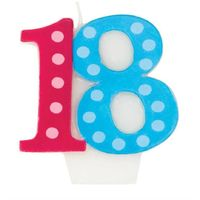 Bright & Bold 18th Birthday Candle... just $2.58