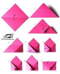Super cute idea for V-day or any envelope !!! Origami.