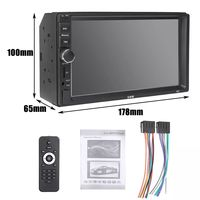 N5 7 Inch 2DIN Car MP5 Player Support FM AM Radio bluetooth USB TF Card 360 Panoramic Rear VIew Camera Mic with Remote Control