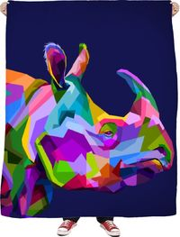 Rhino Fleece Blanket $65.00