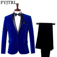 Slim Fit Velvet Suit $96.99