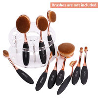 Oval Makeup Brush Holder Stand $20.99