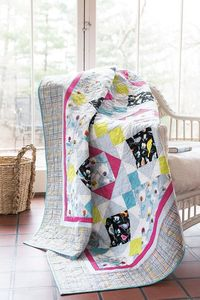 "The colorful birds in the fabric called out to designer Leigh Headington,""Let me show off in a simple block. Economy would be nice!"" The simple King's Crown block has a calming light blue, green and pink color scheme. Digital pattern and quilt..."