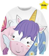 ROCS Unicorn And Butterfly Sweatshirt $65.00