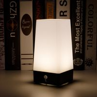 LED Emergency Night Light Chargeable Battery Bedside Square Lamp Table Night Lamp Bar Light Warm White/White