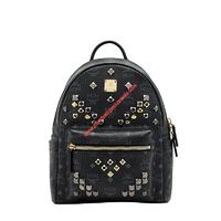 MCM SMALL STARK M STUDS VISETOS BACKPACK IN BLACK