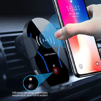 Bakeey 10W 7.5W 5W Infrared Induction Fast Charging Wireless Charger Car Holder For iPhone 8Plus XS 11Pro Huawei P30 Pro Xiaomi Mi9 9Pro
