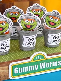 Planning a trip to Sesame Street? Check out this Kara's Party Ideas featured Rustic Whimsical Sesame Street Birthday Party right now!