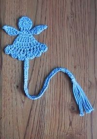 Crochet Angel Bookmark - Tutorial.