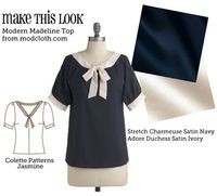 (via Make This Look: Modern Madeline Top - The Sew Weekly Sewing Blog Vintage Fashion Community)