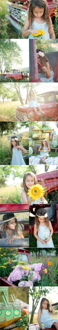 Knoxville Children's Photographer | Lemonade Stand Sessions | Vintage Red Truck | Styled Photo Shoot for Kids | Sarah C. Photography