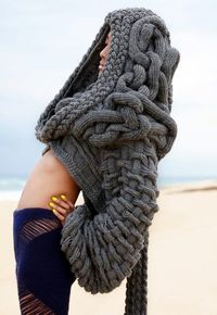 Pretty sure this is the kind of monstrosity I would create if I attempted to knit (I think someone made this on purpose though...)