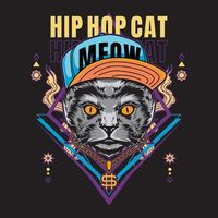 Hip hop cat | Premium Vector.