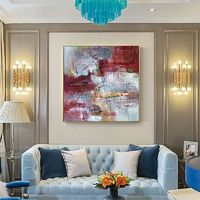 Modern abstract red painting Acrylic paintings on canvas original art large Wall Art framed painting wall pictures cuadros abstracto $148.75