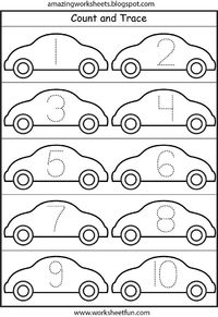 Worksheets Amazing Worksheets amazingworksheets blogspot com juxtapost lots of worksheets for all themescars number tracing 1