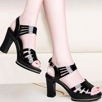 Summer Elegant High Heel Leather Hollow Out Women Sandals Shoes,NEW,on Sale! More Info:https://cheapsalemarket.com/product/summer-elegant-high-heel-leather-hollow-out-women-sandals-shoes/