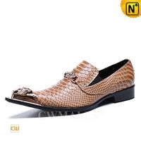 Haute Couture | Mens Embossed Leather Dance Shoes CW719032 | CWMALLS.COM