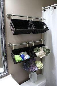 Extra bathroom storage.
