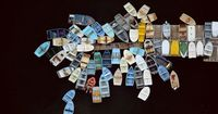 Alex MacLean photography, dinghies clustered