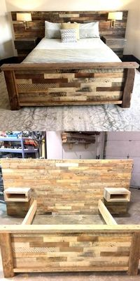 Wonderful Wooden Pallets Bed Projects by gabriela
