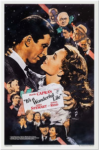 IT'S a WONDERFUL LIFE - R90 original 27x40 Movie Poster - James Stewart, Donna Reed - Poster Design By Kilian Enterprises $79.99