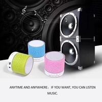 Portable Colorful Mini Bt Speakers Wireless Hands Free LED Speaker TF USB FM Sound Music For Mobile Phone
