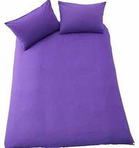 ColourMatch True Purple Bedding Set - Double This eye-catching purple double duvet set from the ColourMatch range is made from a mix of materials designed to be durable and easy care while still providing you with a comfortable nights sleep. Set http://ww...