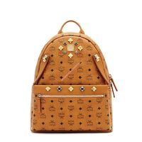 MCM Medium Dual Stark Odeon Backpack In Brown