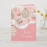 Sweet Elegance Easter Greeting Holiday Card