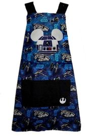 R2D2 Mickey Ears Apron - Adult Sizes by BellaLise Designs.