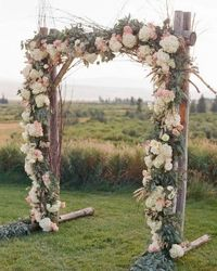 Wedding arch is one of the most photographed elements in a wedding, where the bride and groom exchange both their vows and rings. Today wedding altars and arbor