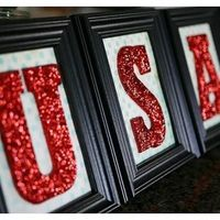 Glitter 4th of July Letters