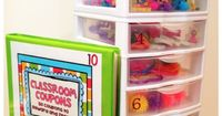 A behavior reward system that might be possible to do in a home learning environment. Students earn tickets during the week and trade them in for prizes according to the number of tickets they earned. Of course, at home, you might not need so many boxes. ...
