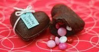 Surprise your special valentine with a heart-shaped brownie treasure box filled with candy, ice cream or chocolate kisses.