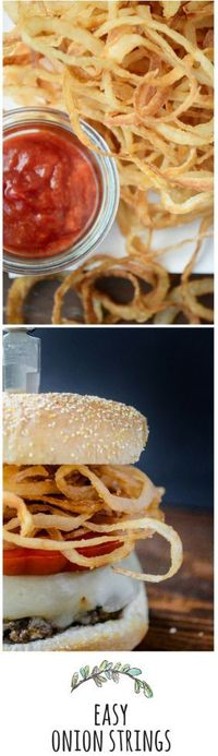 Simple to make,impossible to resist - onion strings are the ultimate appetizer!