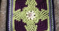 """Day 8: 12"""" Block of the Day - Pineapple Blossom 12 inch Square by April Moreland Free Pattern: http://dishclothdiaries.blogspot.com/2009/09/pineapple-blossom.html June 2013 #TheCrochetLounge #12""""Square Pick #crochet"""