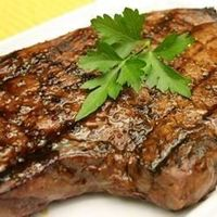 "Sirloin Steak with Garlic Butter | ""WOW! I'd like to start this off by saying...this is the first steak that I have ever grilled in my life, but I got a perfectly cooked steak that everyone loved. """