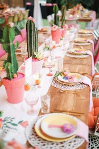 Actress Katie Leclerc and casting director Brian Habecost's gorgeous Palm Springs wedding at Colony 29, brilliantly captured by Gideon Photo, has a color palett