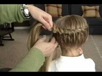 one poster said: I do my little girls hair like this a lot. It is super simple and they always get compliments. This is a great tutorial of how to do it. Once you learn, you can do different variations. Great videos!Memo to moms: don't forget Lollypop...