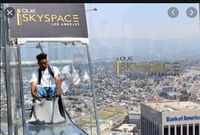 OUE Skyspace LA is California's tallest outside perception deck and the debut goal for all encompassing, 360-degree perspectives on Los Angeles.
