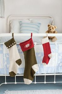 Basic Christmas stockings by Churchmouse Yarns & Teas