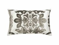 Morocco Silver Velvet Lumbar Pillow by Lili Alessandra $212.00