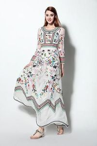 LONG SLEEVE VINTAGE STYLE FLORAL EMBROIDERED DRESS �'�12000.00