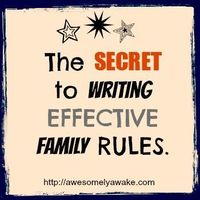 {Family Rules} A post on how to create loving yet effective rules that help a child grow and learn without being too rigid. What are your favorite family rules? Do you even give much thought to the rules you enforce daily? New post by Awesomely Awake!