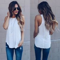 Women Sleeveless Summer Vest Top T Shirt Blouse Pure Color Casual Tank $15.99