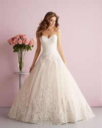 We love the romantic look and feel of this gown! #Newfor2014 Available at Aurora Unique Bridal Boutique