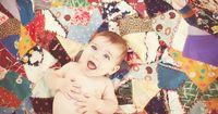 Patch quilt Infant Photography Perfect to use old family quilt!!!