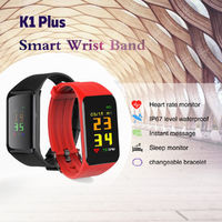 Bakeey K1 Plus Heart Rate Blood Pressure Monitor IP67 Waterproof Call Message Remind Smart Watch