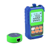 2 IN 1 Optical Power Meter Network Cable Tester with RJ45 Optical Fiber Tester Self-Calibration with 6 Wavelengths